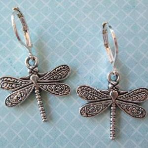 Dragonfly Charm Earrings - Iron Lev..